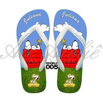 Sandália Chinelo Havaiana Personalizada Snoopy Charlie Brown