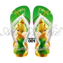 Sandália Chinelo Havaianas Personalizadas Tinkerbell Sininho