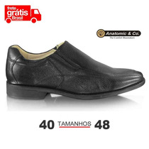 Sapato Anatomic Gel Veneza - Preto Tamanho Grande