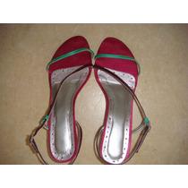 Linda Sandália Shoestock Cetim Rosa Roxo Verde Com Strass 36