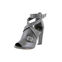 Calvin Klein Zihanna Calf Mulheres Peep Toe De Couro Bootie