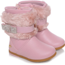 Bota Infantil Pampili New Alice Rosa Chic Lisa
