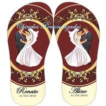 Kit 30 Pares De Chinelos Sandálias Personalizados Casamentos