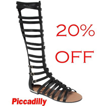 20% Off Sandália Rasteira Gladiadora Alta (40cm) Piccadilly