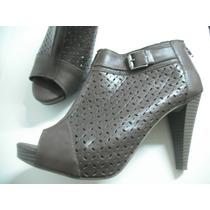 Sandalia Ankle Boot Marrom Tam 39 Ótimo Estado