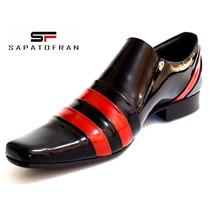 Sapato Social Masculino Envernizado Stilo Italiano Lançament