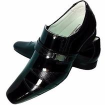 Sapato Social Masculino Em Couro Verniz Mafisa Confortavél