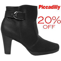 20%off Bota Piccadilly Ankle Boot Conforto 135044 - Preto