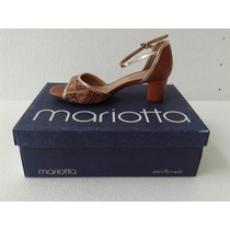 Sandalia Mariotta Ref 8070-99 Salto Grosso