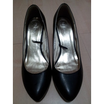 Sapato Hm Salto Baixo - H E M - Preto - Novo