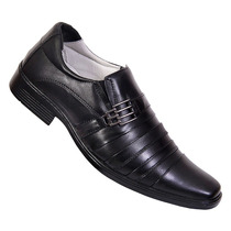 Sapato Masculino Social Conforto Couro Carneiro Palmilha Gel