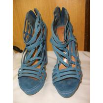 Sapato Sandália Schutz Salto 14,5 Cm - Tam 37 Azul