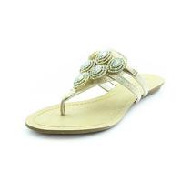 Rasteira Glamm Pedras Dourada - Sapatos Mania