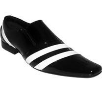 Sapato Social Couro Legitimo Verniz Masculino Dhl Calçados