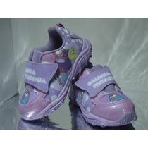 Tênis Galinha Pintadinha Feminino Velcro Lilas Infantil -330
