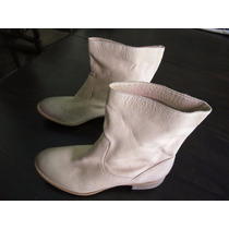 Linda Bota Ankle Importada Pelica Na Cor Marfim Numero 35!!!