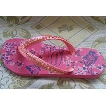 Chinelo Customizado Com Fita E Strass - Rosa Florido