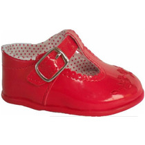 Sapato Sapatinho Social Infantil Bebê - Cor Vermelho
