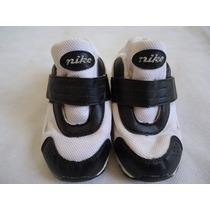 Tênis Nike Infantil Original Nº14 Branco E Preto