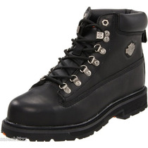 Bota Harley Davidson - Black Boot - Dedo De Aço - Waterproof