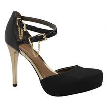 Sapato Feminino Salto Alto Meia Pata Tanara N5601 2014