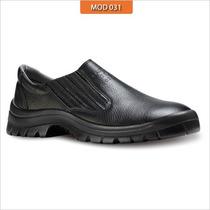 Sapato Elastico Calçado Proteçao Segurança Epi Couro Vaqueta
