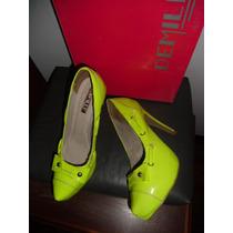 Sapato Demiler Amarelo Limão 35 Promoçâo