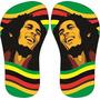 Chinelo Preto Estampa: Bob Marley