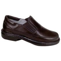 Sapato Linha Relax Para Diabéticos Em Couro De Carneiro