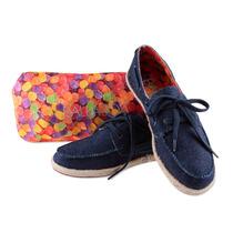 Sapatilha Ballasox Dockside Trentini Liberte Azul Jeans