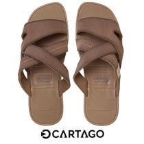 Chinelo Cartago Mali Masculino Marrom Gaspea 11041