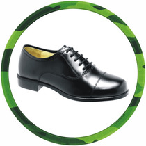 Sapato Social Militar, Alto-brilho, Padrão Militar,100%couro