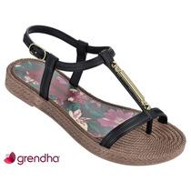 Sandália Rasteira Grendha Resort Preto 17002