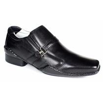 Sapato Masculino Em Couro Legítimo Ganhe Um Cinto Em Couro