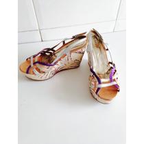 Sapato Feminino Com Plataforma, Lindo Ótimo Estado!