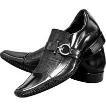 Sapato Masculino Couro Verniz Calçados De Franca Sapatocia