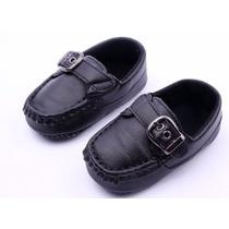 Sapato Social Sapatinho Preto Bebê Infantil Menino Terninho