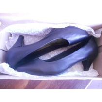Sapato Social Scarpin Preto Salto Baixo Kenro Nº35
