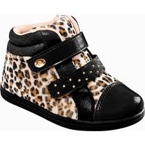 Tênis Sneaker Oncinha Detalhe Preto Pampili