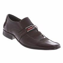 Sapato Social Masculino Gofer Couro Legítimo Verniz 0686