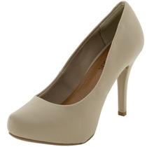 Sapato Feminino Salto Alto Ostra/bege - 50602857 Crysalis