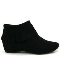 Bota Ankle Boot Vizzano 3043104 - Preta