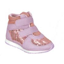 Sneaker Infantil Pinókio 5104 Rosa/lilas (frete Grátis)