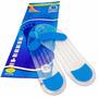 Palmilha 100% Silicone Com Dois Pontos Azul A Pronta Entrega