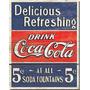 Adesivo Clássico Coca Cola A Prova Dágua