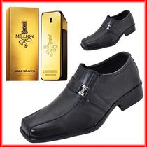 Sapato Social Em Couro Legitimo Grátis Perfume Importado*