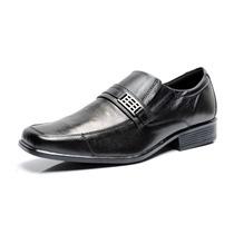 Sapato Social Couro Legítimo - Forrado - Solado De Borracha