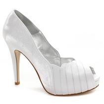 Sapato Noiva Laura Porto Peep Toe Mh9215 | Zariff