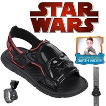 Sandália Star Wars Brinde Relógio Darth Vader 21319