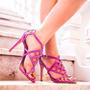 Sandália My Shoes Pink / Fucsia Nova Tamanho 37